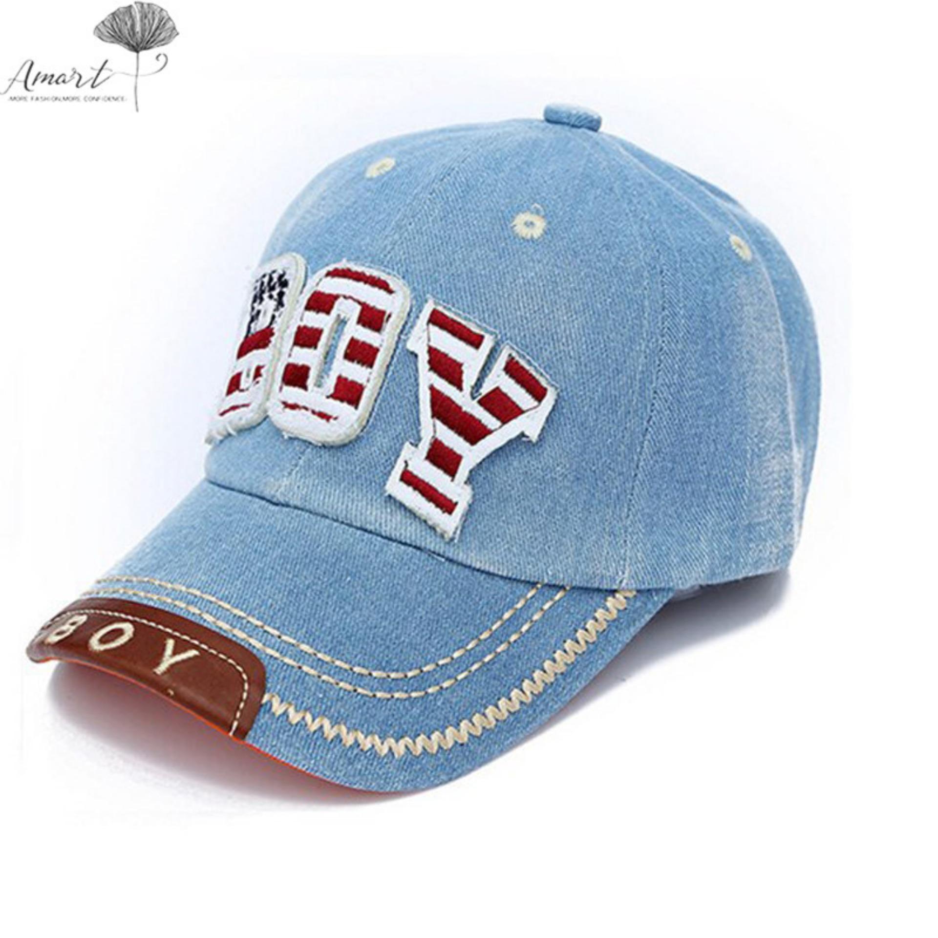 Amart Topi Baseball Koboi Anak-anak yang Bisa Disesuaikan (Biru Muda) | Lazada Indonesia
