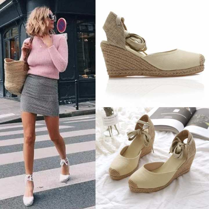 Men's/Women's~Summer Men's/Women's~Summer Men's/Women's~Summer of female of sandals 2018 new style of thick bottom grass plait pack head Gao Gen Po heel fisherman shoe strap the waterproof set high-heeled shoes is female - intl ~Customer First 13c9fe