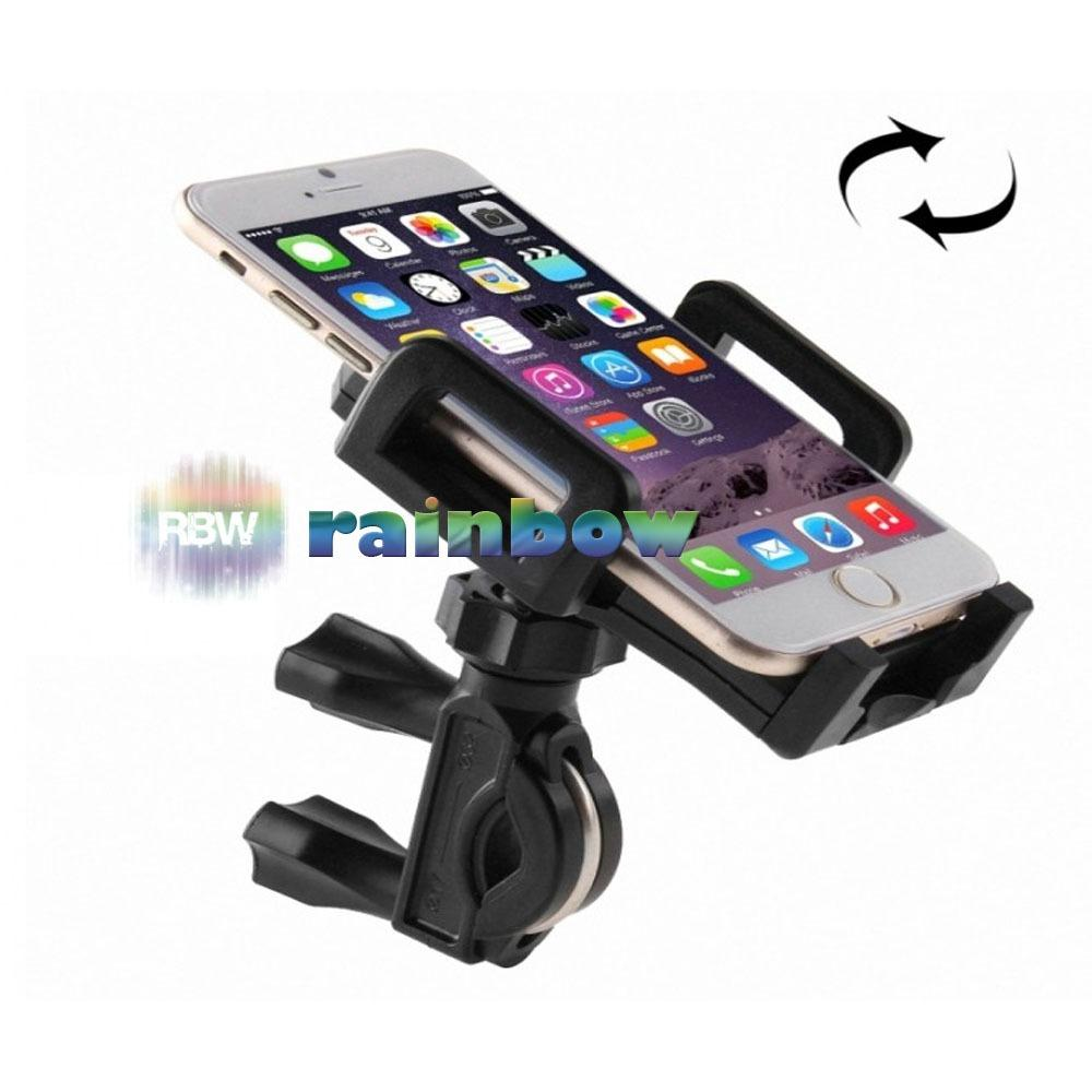 Rainbow Bicycle Phone Holder 2 in 1 Sepeda Dan Motor (Bisa Putar 360°)