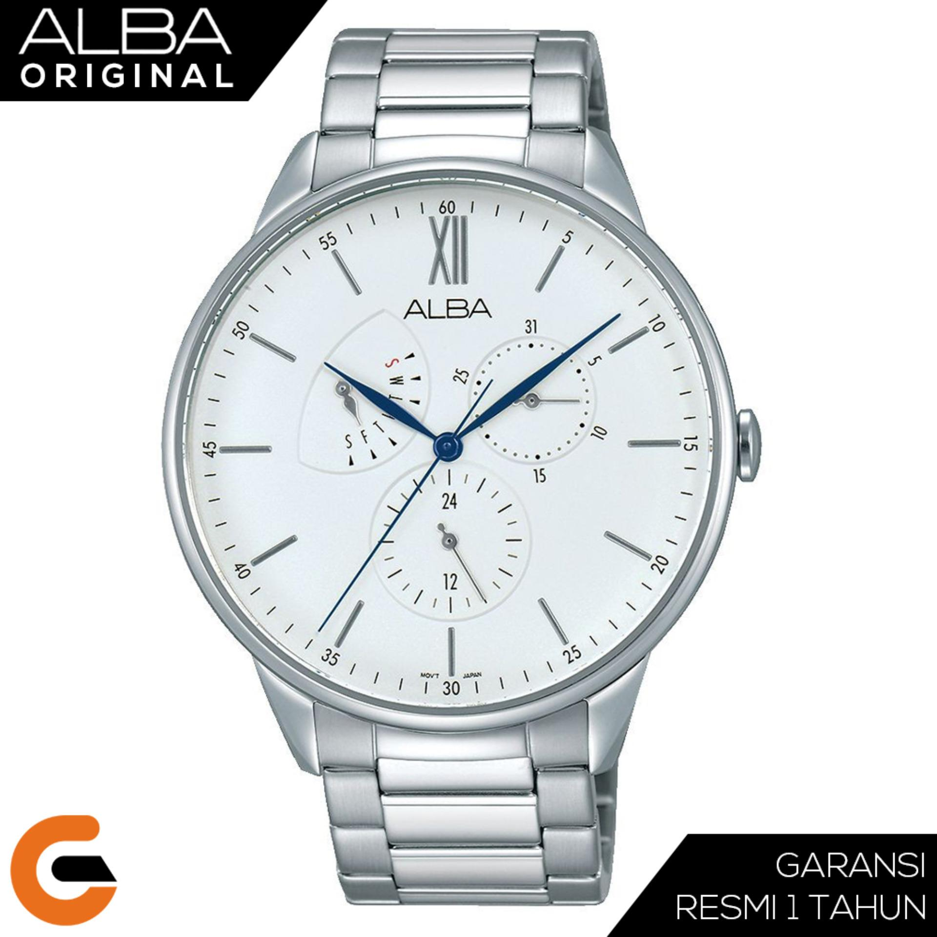 Seiko Chronograph Jam Tangan Pria Tali Stainless Steel Ssb175p1 Strap Silver Sks521p1 Alba Quartz Movement Az800 Series