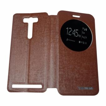 AIMI Laether Sarung For Zenfone 2 Laser 5.5 ZE551KL Flipshell / Leather Case / Flip Cover