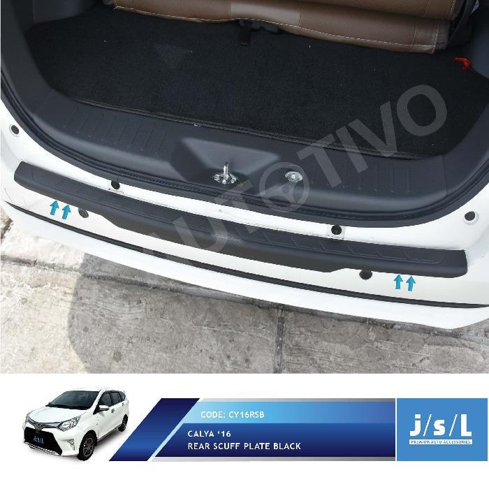 Toyota Calya Sillplate Belakang Hitam / Rear Scuff Plate Black