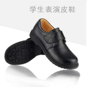 เซินเจิ้นเด็กประถม QXTY รองเท้าสีดำมารยาทงานแต่งงานดอกไม้รองเท้าเด็กผู้ชายรองเท้าแสดงเคาน์เตอร์ของแท้รองเท้าผู้ชาย