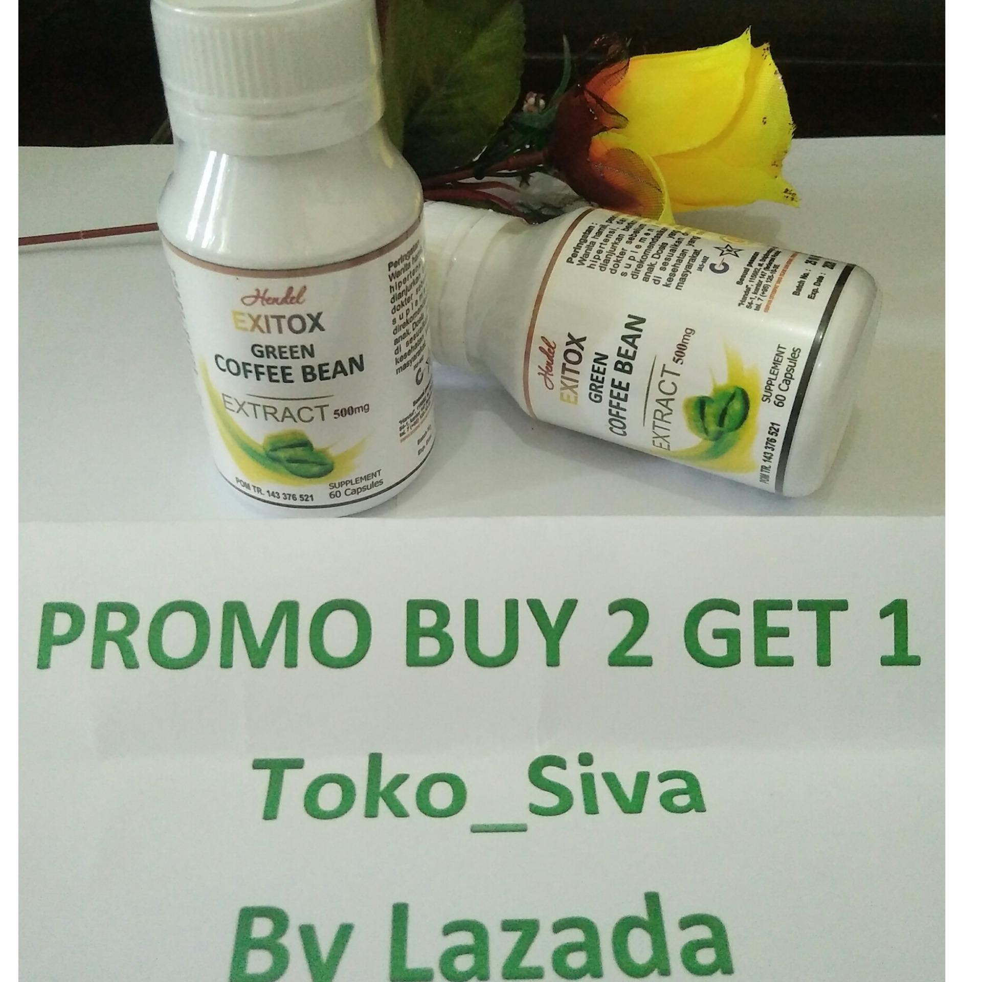 Green Coffee Bean Hendel Exitox 30 Kapsul Detox Pelangsing Detoks Extract Ashsihah Original Exitok 60 Badan Herbal Alami Lazada Indonesia
