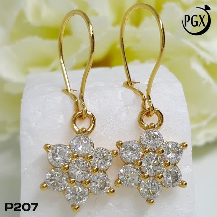 Anting Berlian Terbaru - Perhiasan Xuping Lapis Emas Terlaris - P207-anting  termurah-terkece 4785a382d3