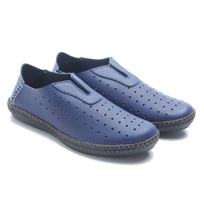 ASLI!!! Dr. Kevin Men Cassual Leather Shoes 13211 - Blue 292efb3427