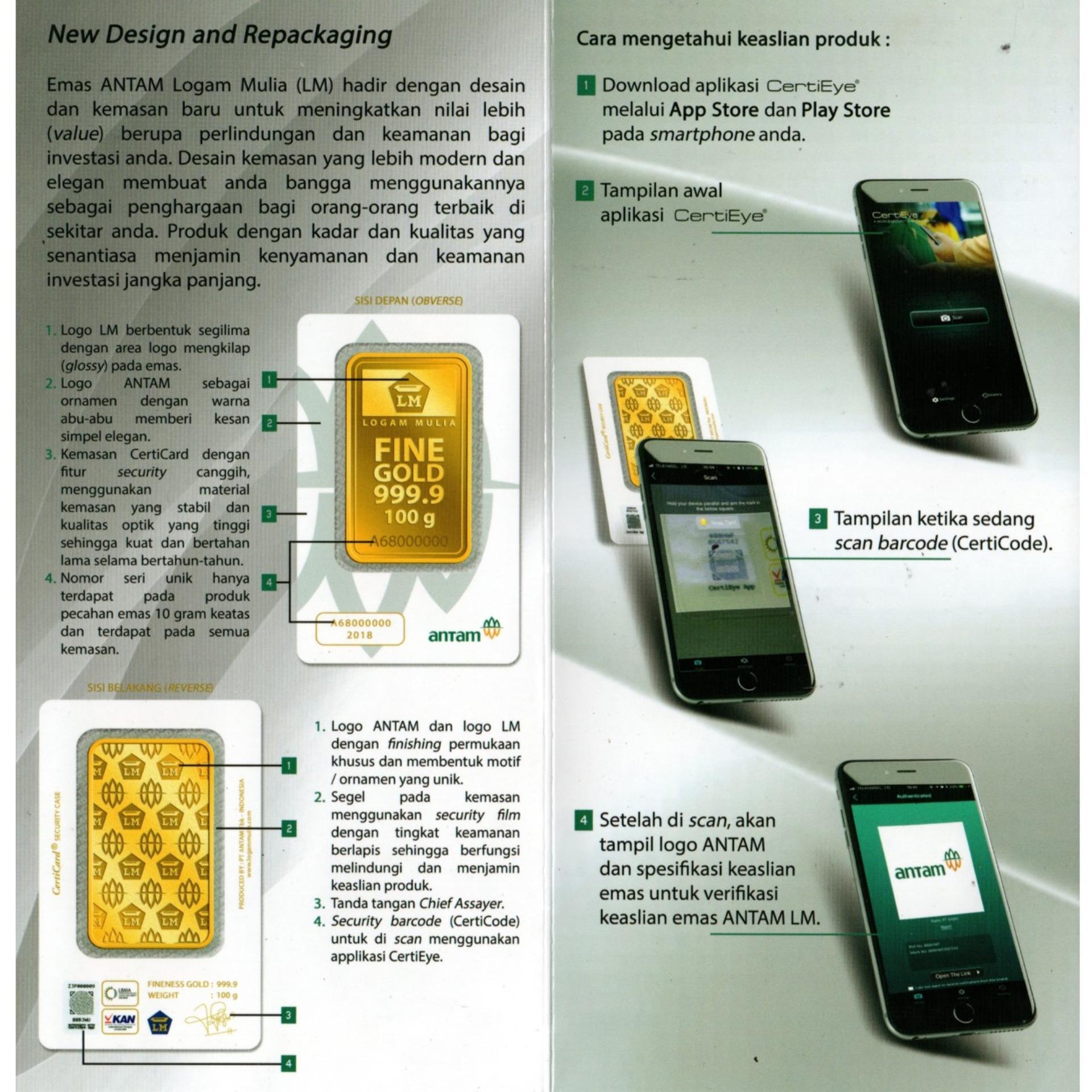 Gold Logam Mulia Lm Sertifikat Asli Antam 05 Gram Emas Batangan Voucher Belanja 11 24 Karat Resmi Lazada Indonesia