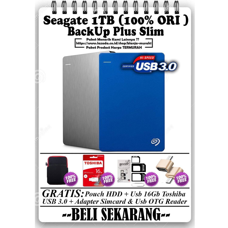 Bundling El Seagate Backup Plus Slim Harddisk Eksternal 2tb 25inch Usb30 Hitam Free Pouch Pen 1tb Hdd Hd Hardisk External 25 Gratis Usb