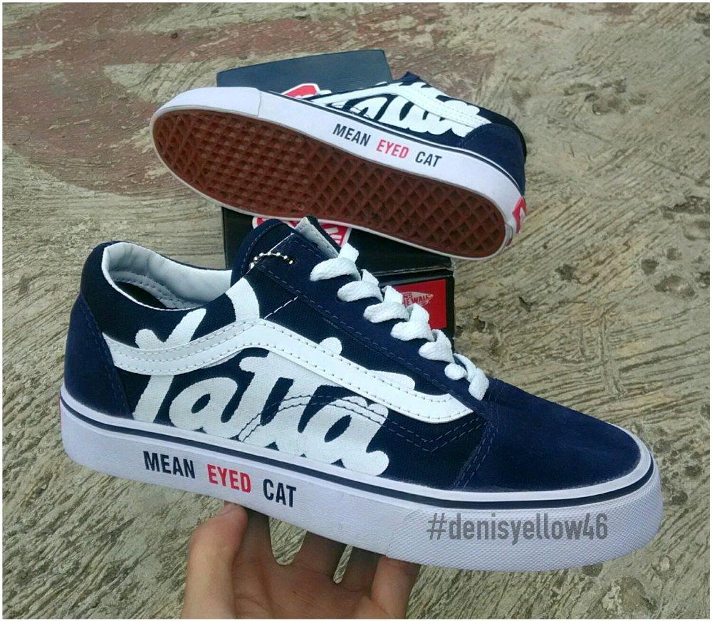 Sepatu Sneakers Vanss Pata Premium Quality Best Seller Unisex-navy