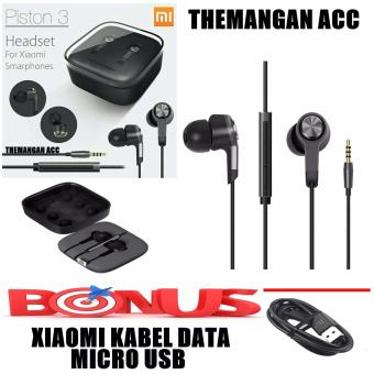 Xiaomi Handsfree / Headset Piston 3 Big Bass + BONUS Kabel Data Xiaomi Micro USB