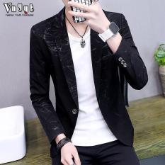 Áo khoác nam dạng suit kiểu Hàn Quốc chất liệu cao cấp