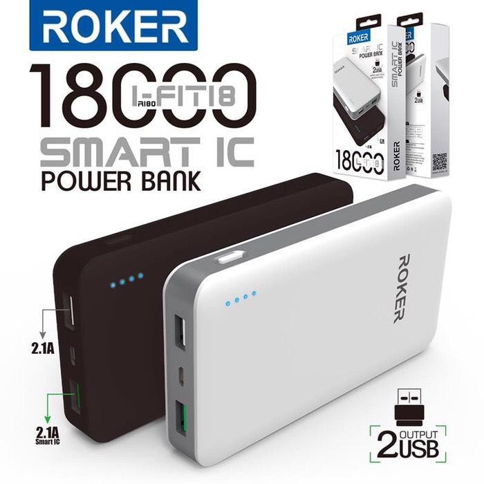 Best Seller! Powerbank Roker 18000mAh R180 (power bank pb) garansi 1 tahun