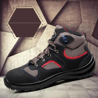Sepatu Musim Panas Fashion Mencuri Toe Keselamatan Bernapas Magic Tape Anti  Smashing Safety Boots Sepatu Keselamatan 91bff276d5