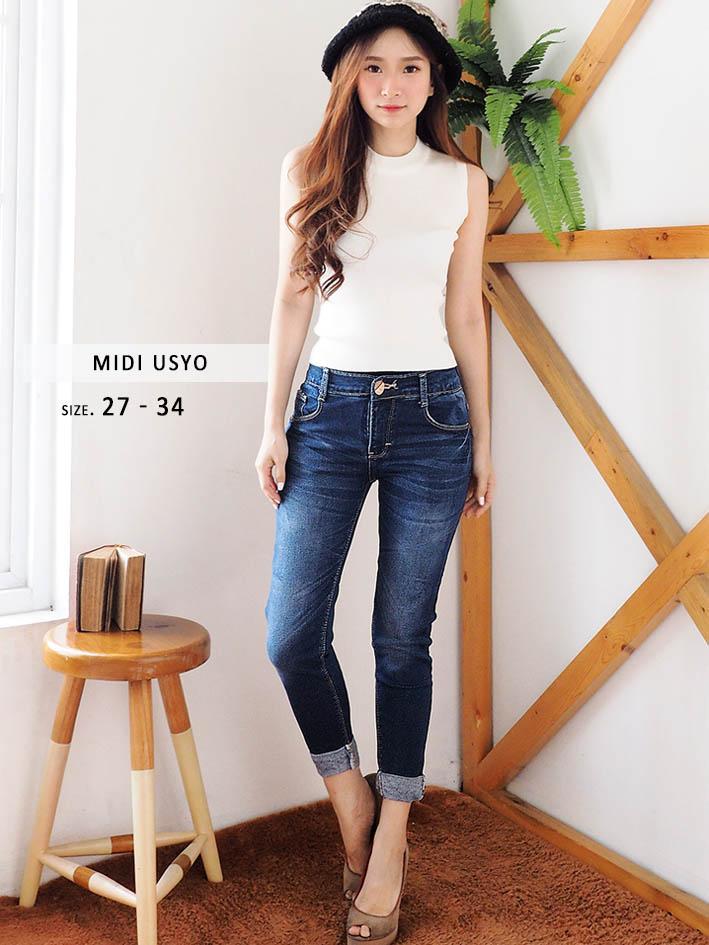 Celana Midi Jeans 79 Wanita - Celana Midi Usyo Small Jumbo (READY UK.27