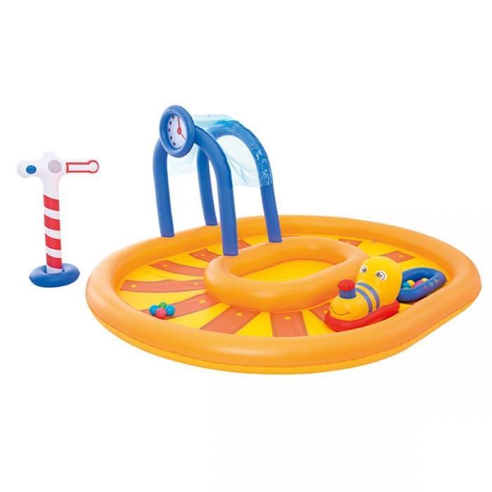 Mainan Anak Perempuan Laki Laki Kolam Renang Anak Bestway Little Caboose Play Pool #53061