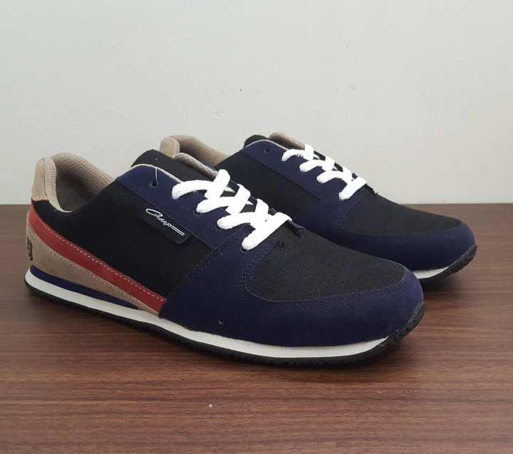 Gshop SNY 6076 Sepatu Sneaker Pria Suede-Eva Bagus (Navy