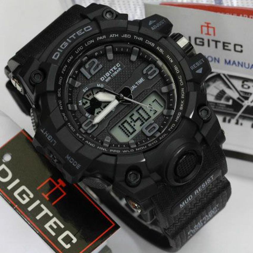 Digitec Jam Tangan Sport Dual Time Watch 2093 Arloji Pria - Hitam Emas | Lazada Indonesia