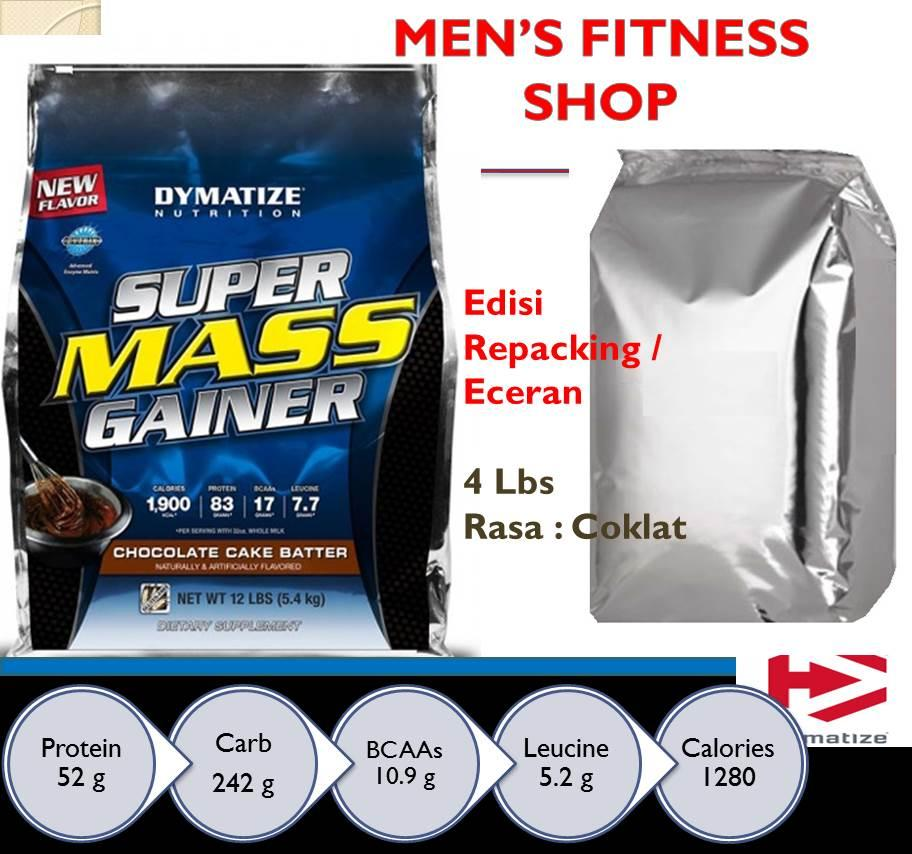 GAINER Super Mass Gainer Ecer Repacking 4 lbs FREE SHAKER