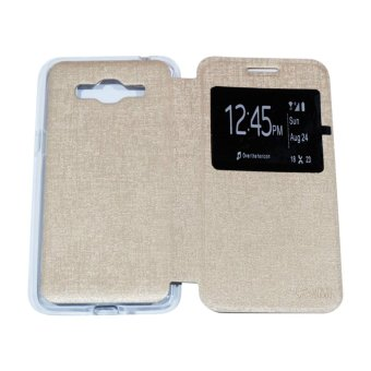 AIMI Flipcover For Samsung Galaxy J2 Prime Flipshell / Flipcover / Sarung Case - Gold