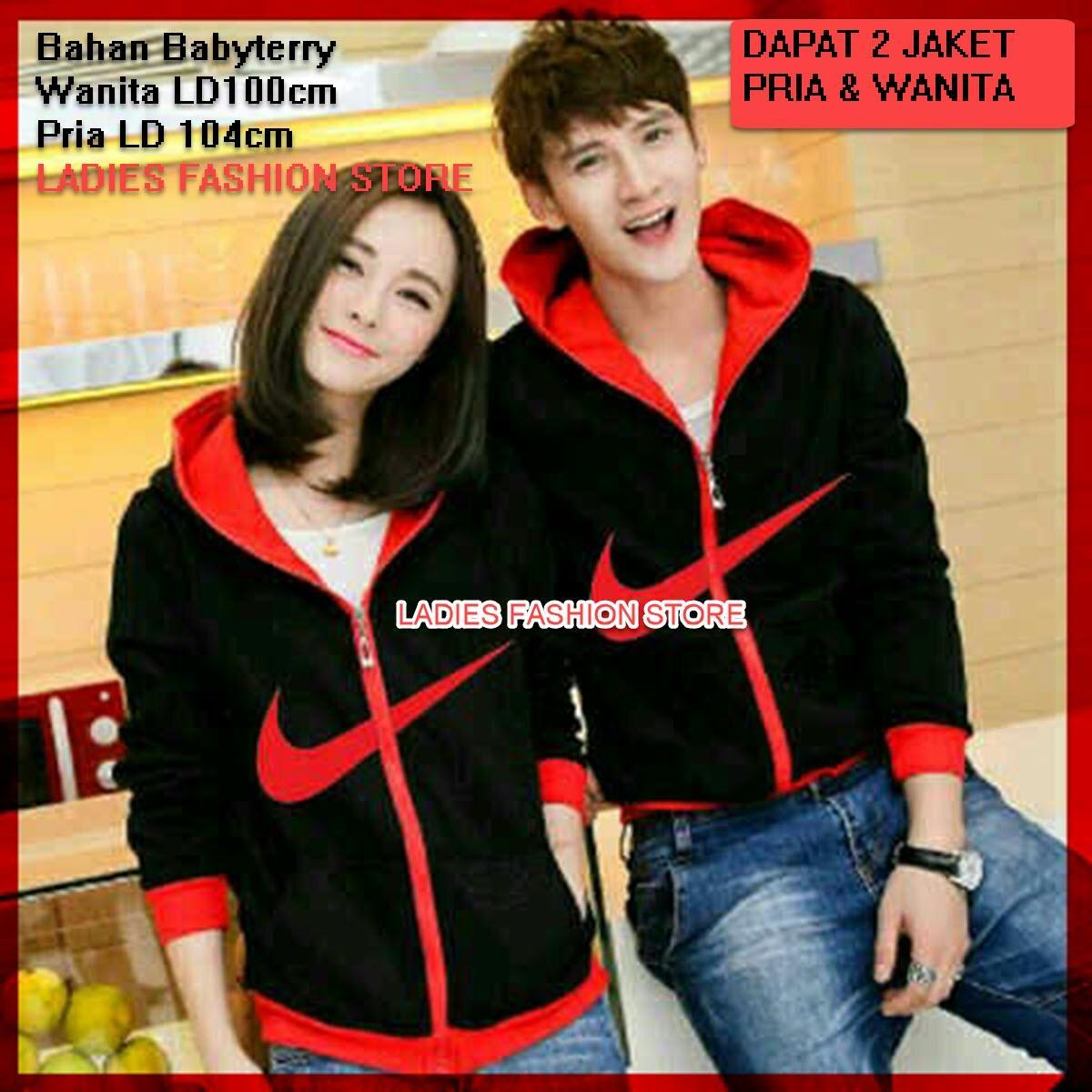 Jaket Pasangan Model N / Jacket Couple Just Do It / Jaket Harga Murah Sepasang /