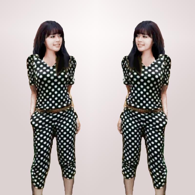 Kyoko Fashion Setelan Onde Enma Polka Dots / Setelan Wanita / Baju Casual / Baju Kasual