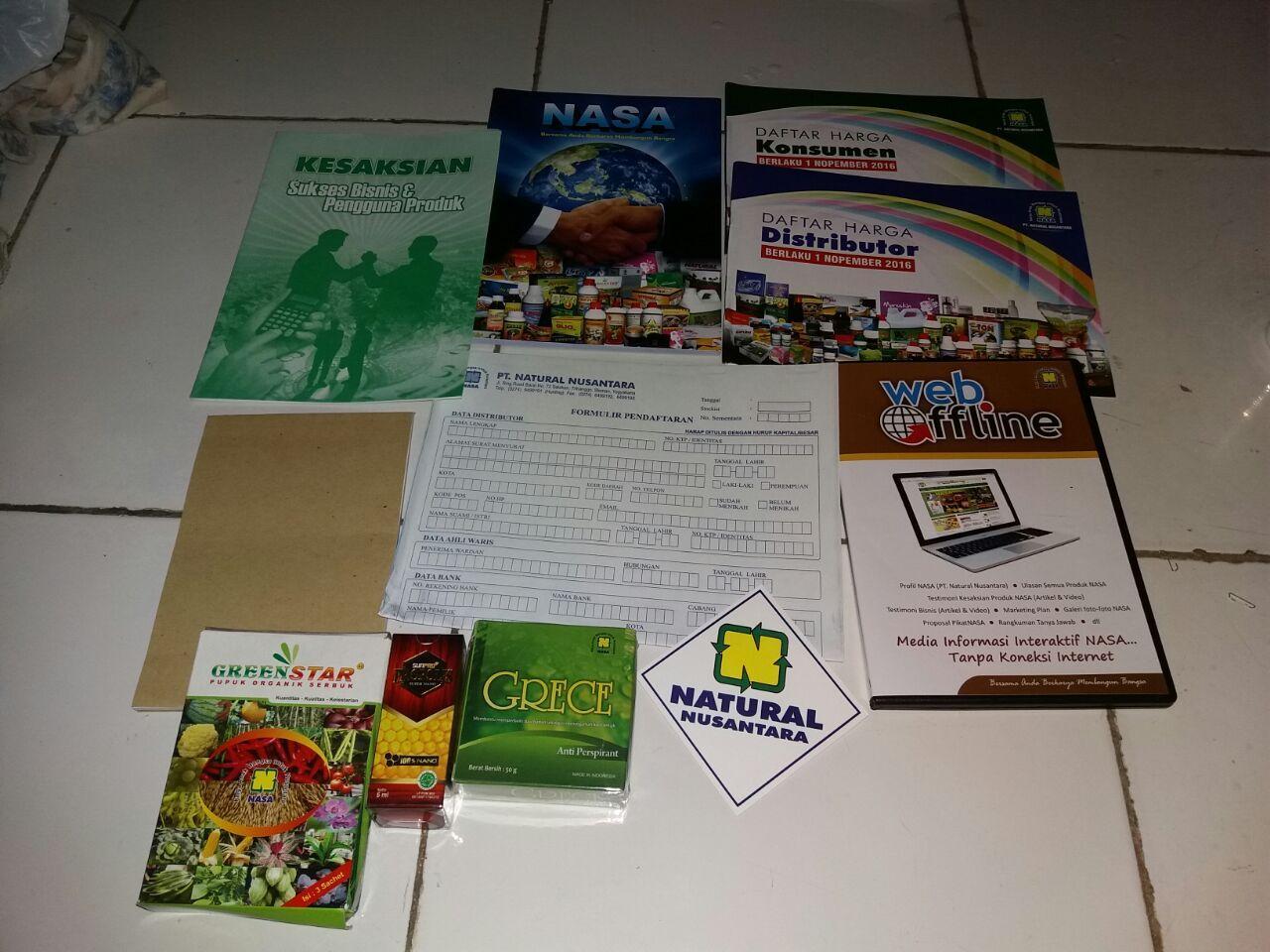 Peket Pendaftaran Member Distributor Resmi Nasa Daftar Harga Penan