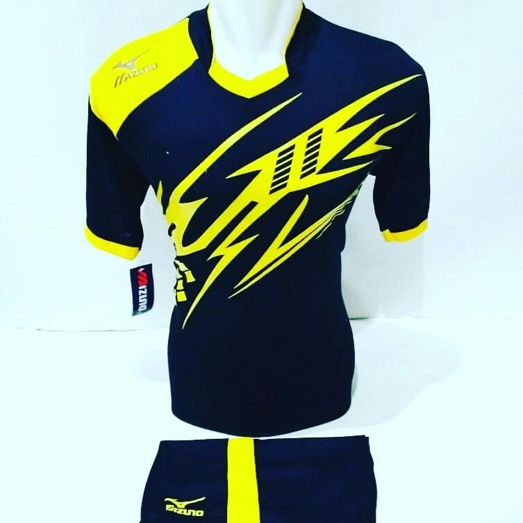 [TERBARU MZ 22] Baju Volly Jersey Olahraga Futsal Kaos Bola Setelan Voli Mizuno Hitam