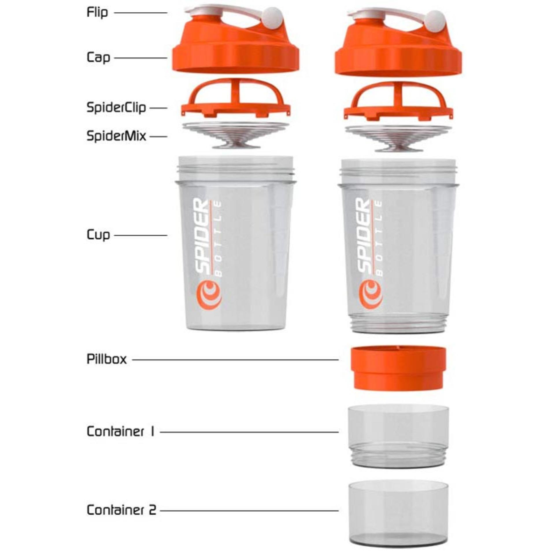 OHOME Botol Minum Fitness Spider Bottle 600 ML Smart Shaker Gym Water Bottle Air - Ungu | Lazada Indonesia