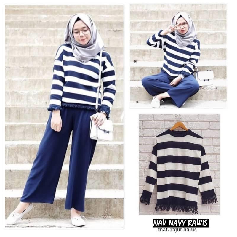 ... Jaket Sweater Baju Atasan Sabrina. Source · -45%. NAV NAVY RAWIS ||| nouska shop ||| grosir