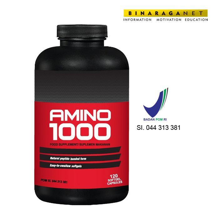 GNC Amino 1000 120 Kapsul Lunak/ Pengiriman khusus JNE
