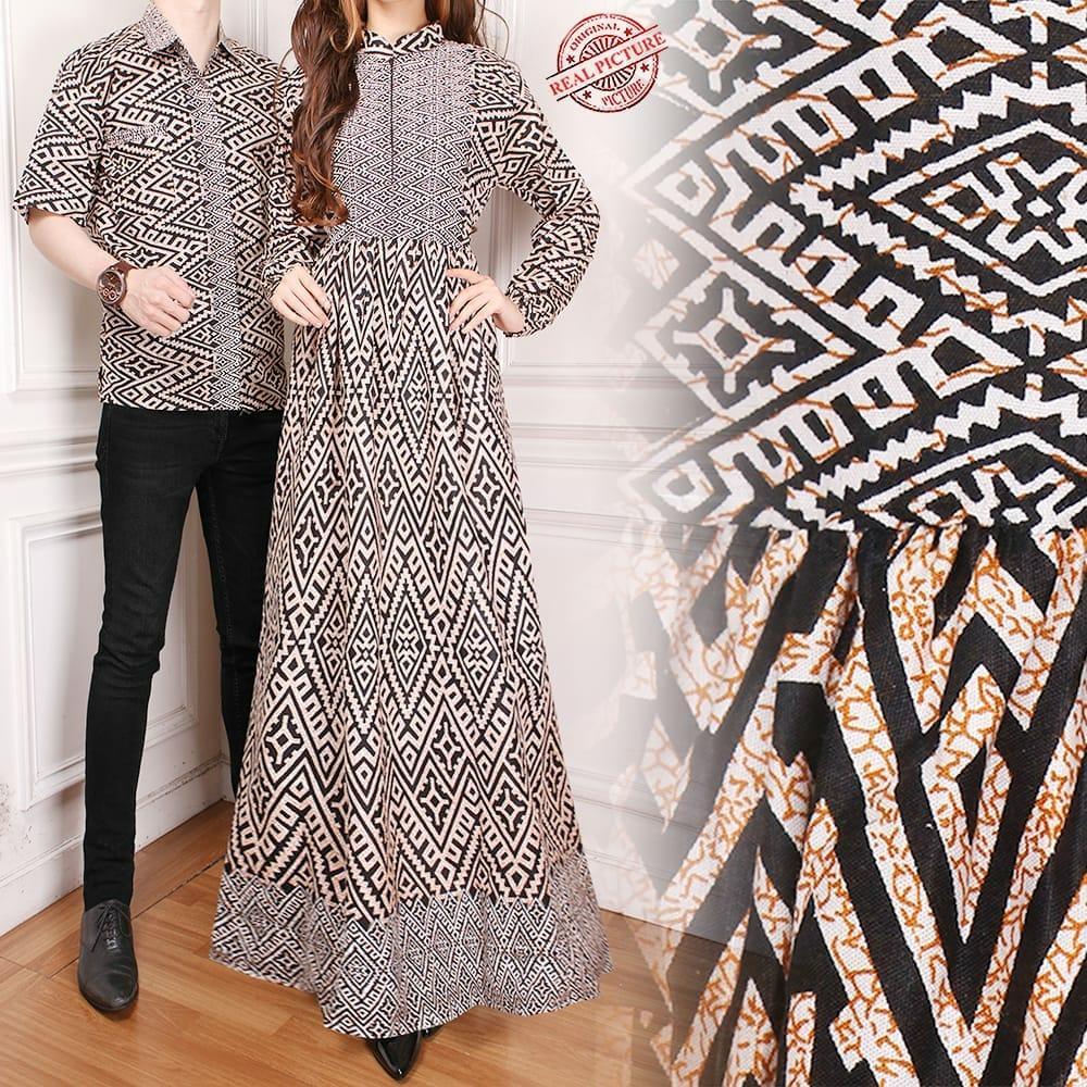 Shinning Collection Dress Midi Batik Lily Short Dress Wanita. 80.900 · Shining  Collection Couple Gamis Maxi Fielra Longdress Wanita dan Kemeja Sarimpit  Pria 9d6113a3d8