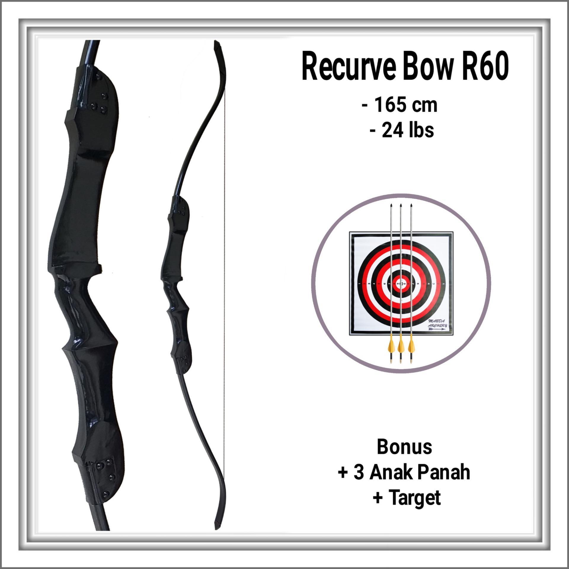 Bantalan Face Target 40x40x2cm Bergaransi Papan Karet Sasaran Arrow Panahan Busur Standar Pvc Wooden Recurve Bow 165 Cm