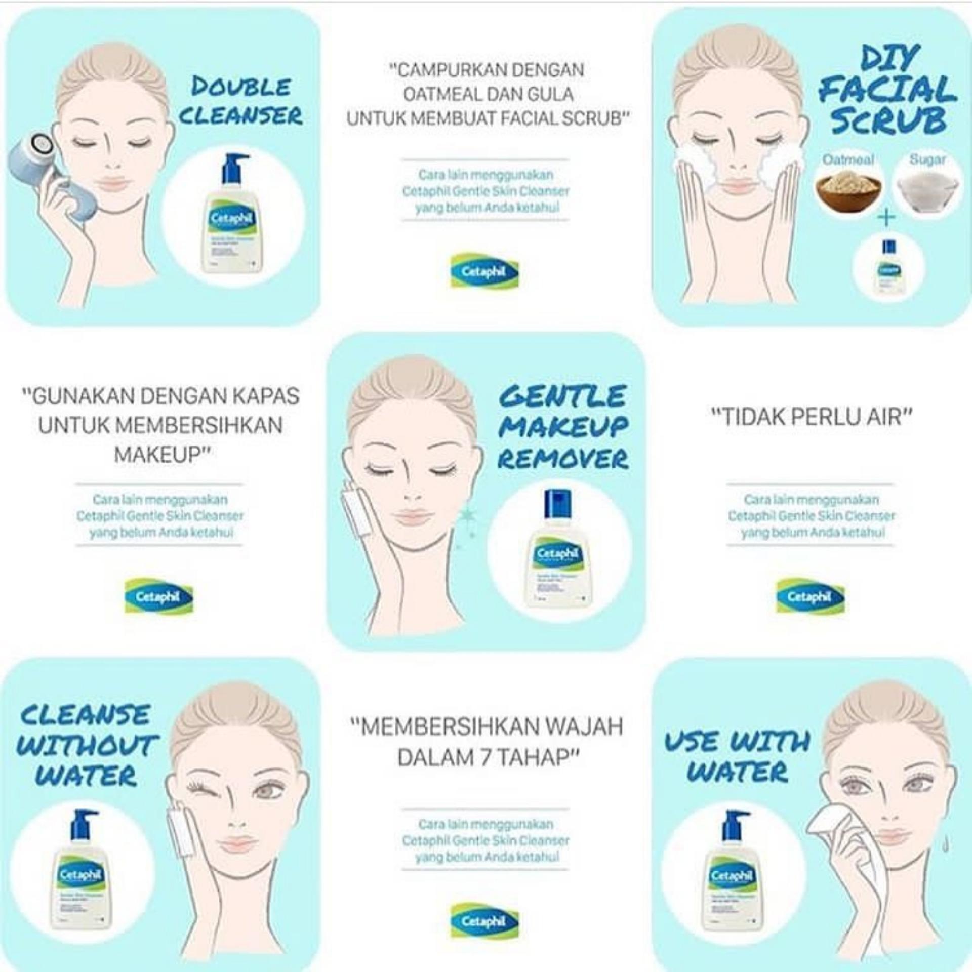Cetaphil Gentle Skin Cleanser 250ml Pembersih Wajah Sabun Cuci Muka Face Wash Alami Lazada Indonesia