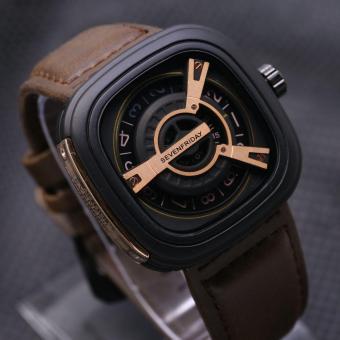 Jam tangan Pria Murmer SevenFreday Leather strap Analog