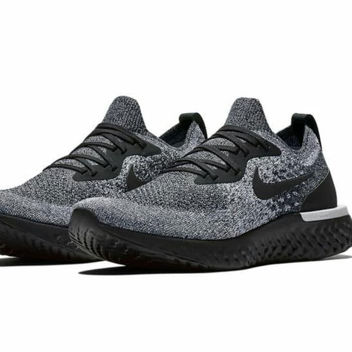 Rp885.000Sepatu Nik e Epic React Flyknit Oreo - Premium Import   sepatu  gaya   sepatu murah   sepatu sport   sepatu impor   sepatu kuat   sepatu  berkualitas ... dca67daa74