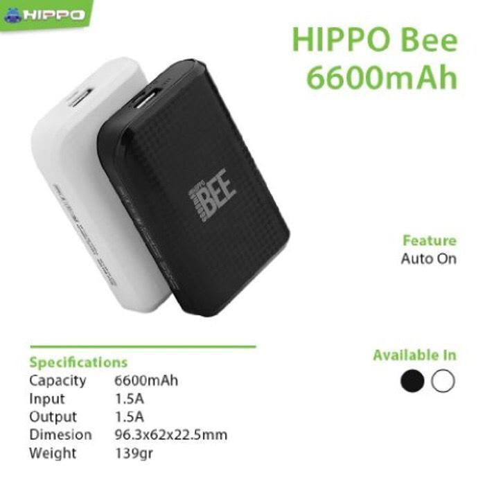 Best Seller! Powerbank Hippo Bee 6600mAh (power bank pb) garansi 1 tahun
