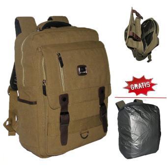 Backpack Kanvas  Tas Pria dan Wanita Fortune 3F100085 Ransel Fasion Hight  Quality- Green 65a5336768
