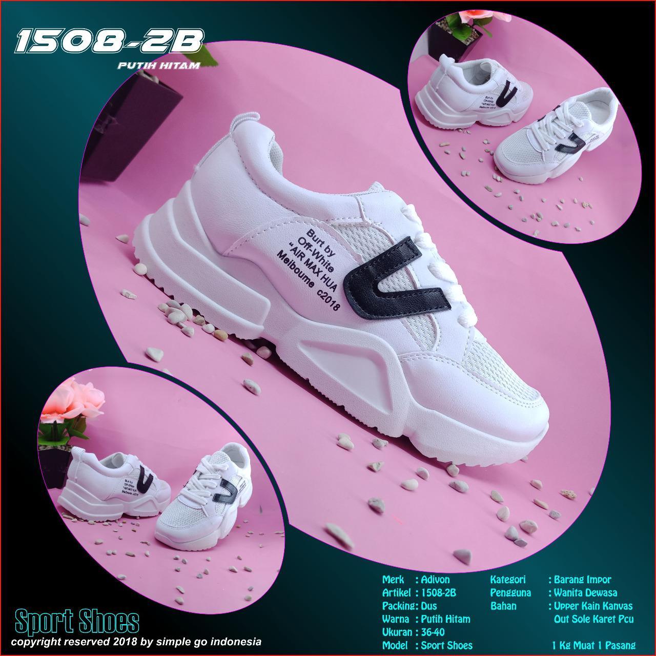 Sepatu olahraga wanita 1508 -2b import 36-40