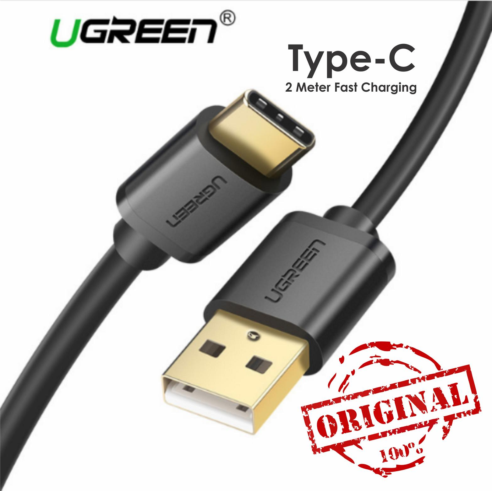 UGREEN Kabel Data 2M USB A To Type C Cable ORIGINAL Fast Charging