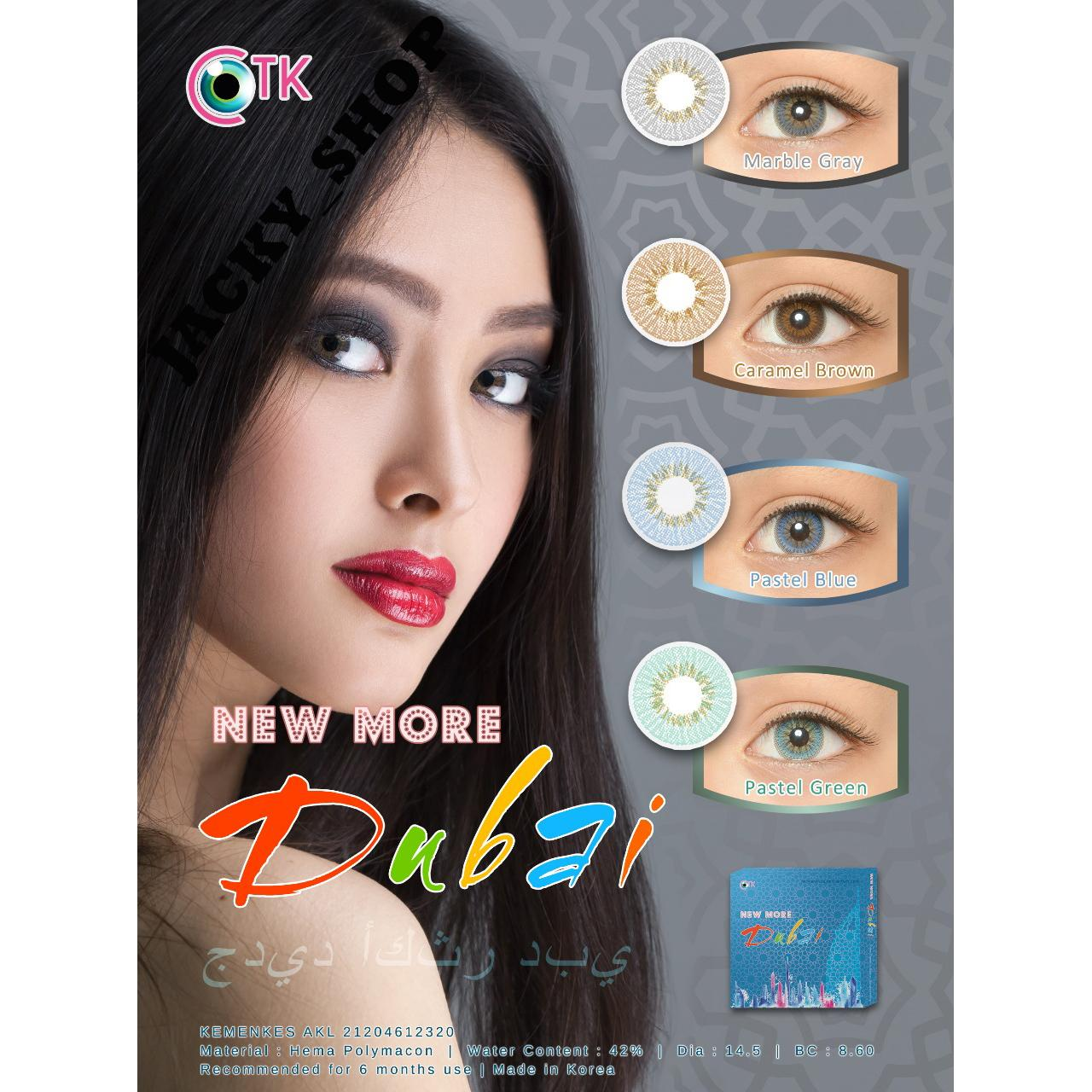 Softlens New More Dubai Diameter 14.5 mm + GRATIS Lenscase