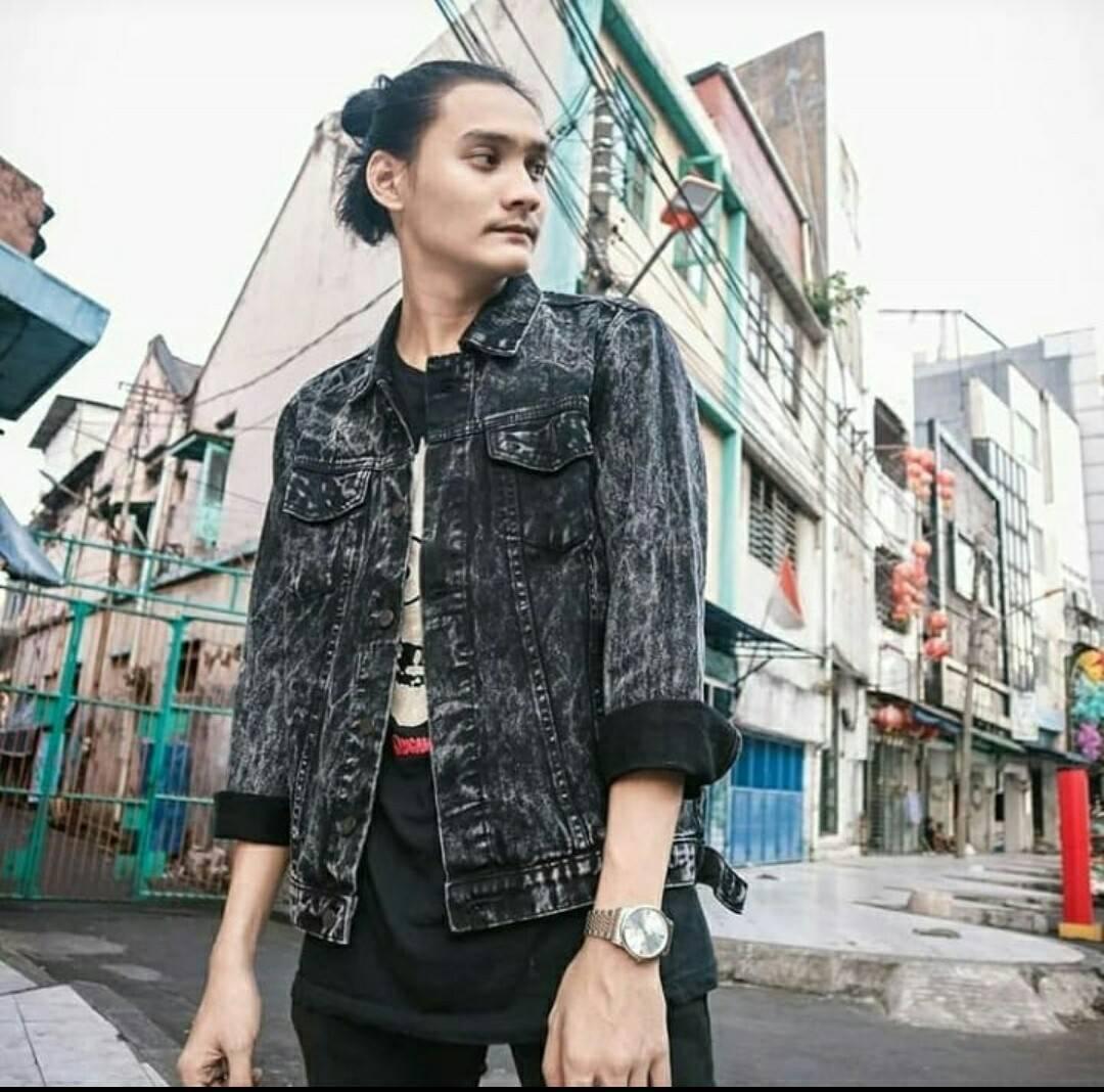 Celana Jeans Pria No Brand Daftar Harga Jaket Biru Muda Wash Denim Casual Black Snow Premium