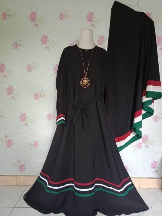 25 Model Baju Gamis Palestina Model Baju Gamis Celana Sepatu