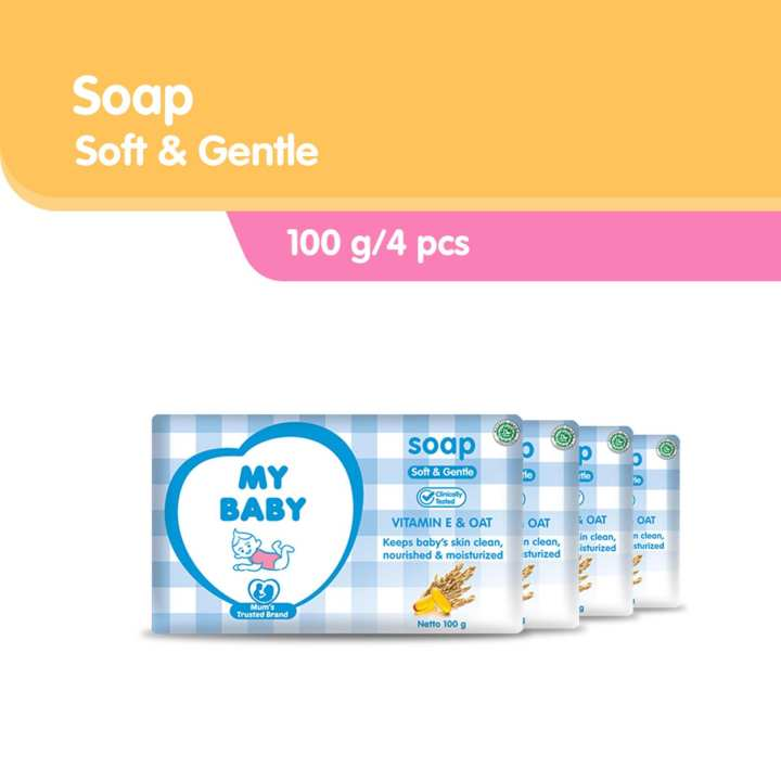 My Baby Bar Soap Soft & Gentle [100 g/4 pcs]