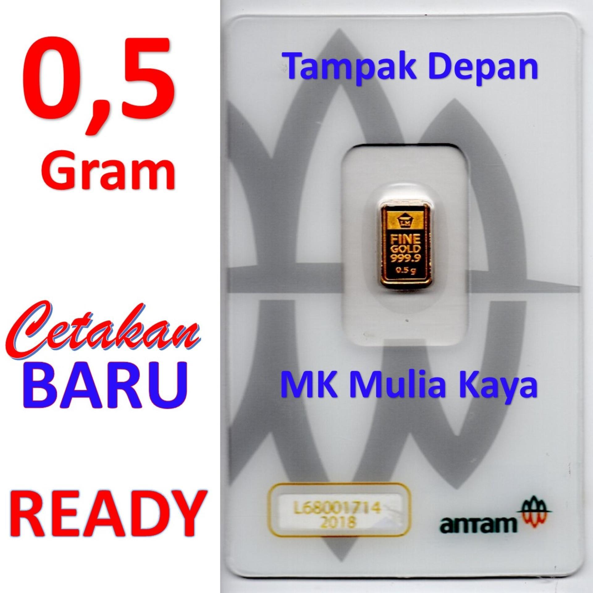 Gold Logam Mulia Lm Sertifikat Asli Antam 05 Gram Emas Batangan