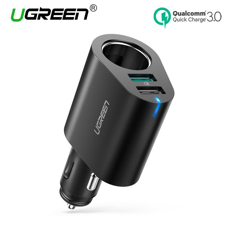 UGREEN Car Charger QC3.0 Fast Car Charger Adapter 60W Dual USB Quick 3.0 Charge