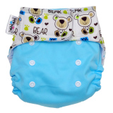 Pem Pem Velcro Litty Bear Clodi Popok Bayi Type Pocket Dengan 1 Insert Litty Bamboo Katun Indonesia Diskon