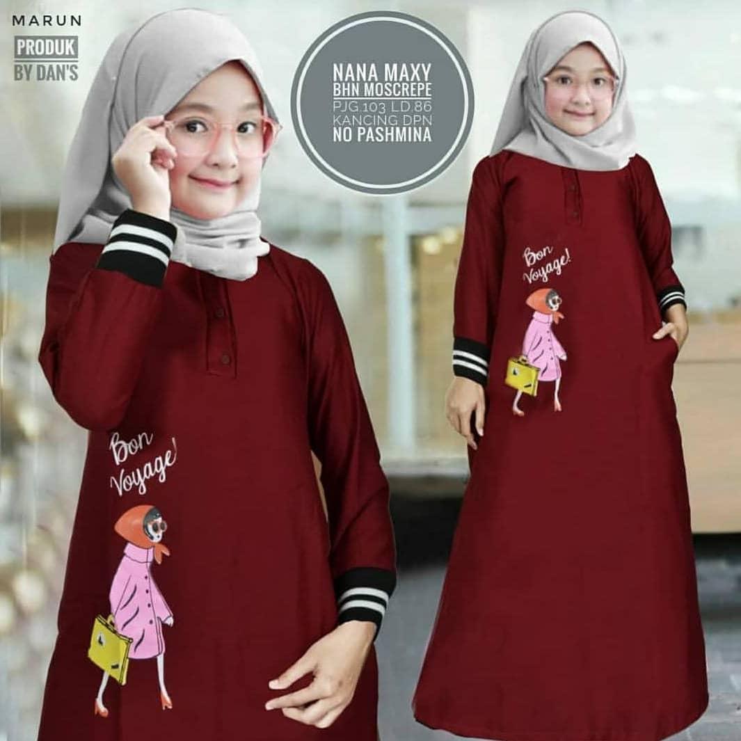 Obm Delilah Maxy Kids Moscrepe Baju Muslim Anak Kekinian Gamis Terbaru Supplier Pakaian Anak Bandung Murah Fashion Wanita Trendy Fashion Hijab Ootd Kekinian 2019 By Original Baju Muslim.