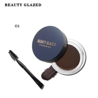 BEAUTY GLAZED Eyebrow Cream Gel Professional Makeup with Brush thumbnail