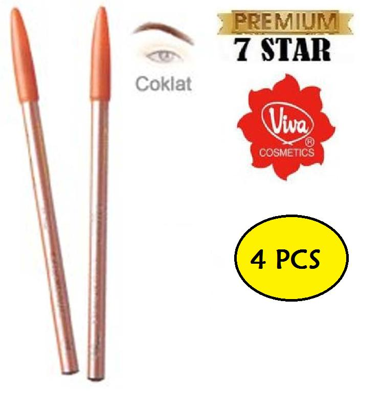 ISI 4 PCS Viva Pensil Alis / Pencil Eyebrow Viva 7STAR - Warna Coklat