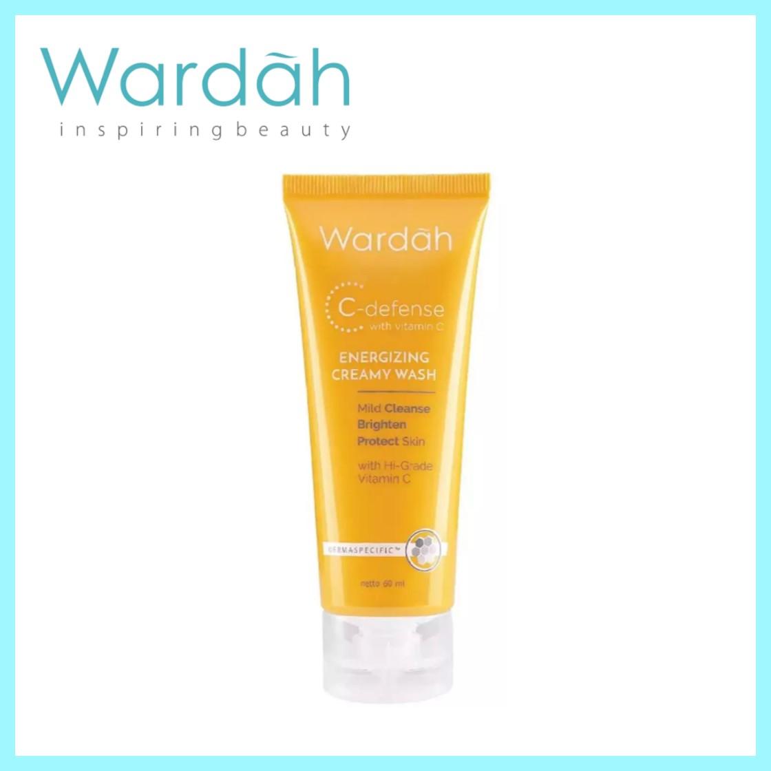 Wardah Energizing Creamy Wash 60ml-100ml C-Defense